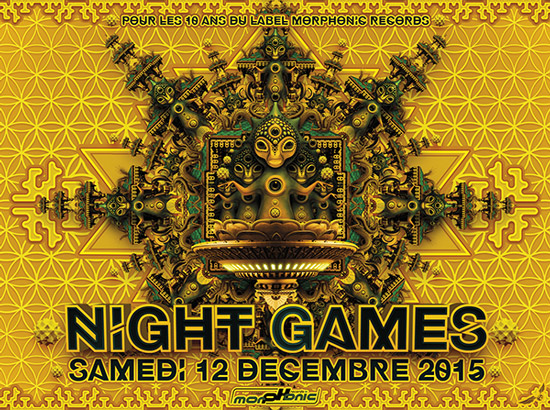 12/12/2015 - NIGHT GAMES - 10 years anniversary